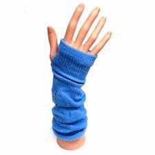 Knitted Long Fingerless Gloves - Blue - Winter Christmas Gift Idea
