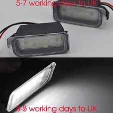 2x LED Number Plate Lights For FORD Fiesta MK7 MK7.5 ZS ST S RS Focus MK3 Mondeo