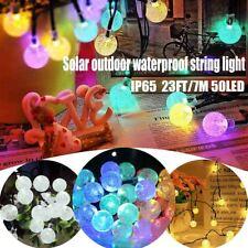 50 LED Crystal ball 23 Ft Solar Lamp Power LED String Fairy Lights Solar Outdoor