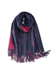 New Mulberry Tree Print Tree of Life Reversible Scarf Premium Blend Shawl Wrap