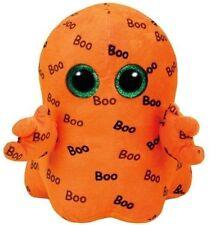 "Ty Halloween GHOULIE Orange Ghost Beanie Boos 6"" Plush Toy Doll"