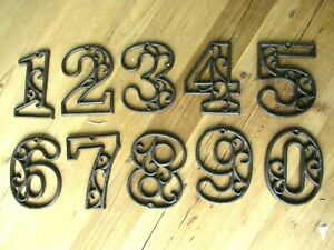 Metal House Numbers Street Address LARGE Rustic Cast Iron Pick #'s from 0-9 #