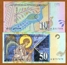 SET Macedonia, 10;50 Denari, 2002-2012, P-14-15, UNC > Colorful