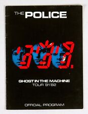 The Police 1981 1982 Ghost In The Machine Tour Program Book