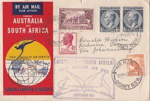 AFC1337) Australia 1952, Linking Australia & South Africa, Lockheed Constellatio