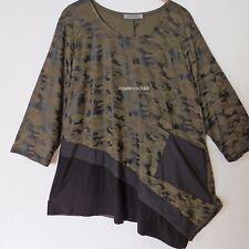 ZEDD..PLUS tolles Lagenlook Long Shirt Tunika Camouflage oliv-schwarz 50-52 (4)