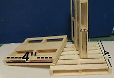 TWO 1:12 SCALE  WOODEN PALLET (4''X 4'')FOR YOUR DOLLHOUSE MADE IN THE USA !