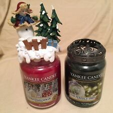 yankee candle christmas Tree Illumalid Plus 3d Snowman Stay On Topper