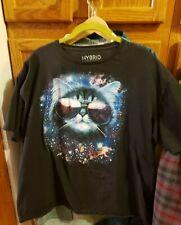 Hybrid Apparel Super Kool Cat T Shirt (Graphic Tee) Black 2Xl Cotton