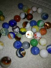 LOT of 38 Antique Vintage Marbles - Cats Eye - Swirls - more