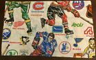 Vintage 1970s NHL Hockey Pillowcase - Atlanta Flames California Seals KC Scouts