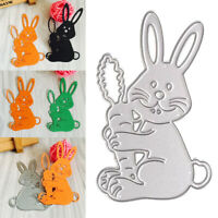 Welcome Easter  Passover Bunny Metal Cutting Dies Stamps Scrapbooking Craft Card