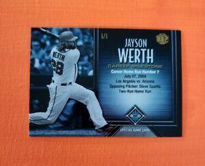2017 Honus Bonus Fantasy Baseball Milestones #58 Jayson Werth HR/219* 7 1/1