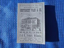 Vintage Montgomery Ward Catalogue No. 13 Spring/Summer 1875 Novelty Reprint
