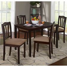 Metropolitan Dining Table Set 5pcs Space Saver Kitchen Furniture Chairs Espresso