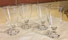 Set of 4 Vintage Anchor Hocking Clear Boopie Water Glasses