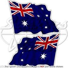 "AUSTRALIA Australian Waving Flag Vinyl Bumper Decals, Stickers 4,7""(120mm) x2"