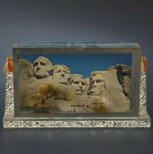 Vintage Post Card Desk 3-D Display Holder Desert Theme Crinkle Mirror Frame