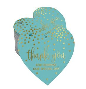 Inkdotpot Pack Of 100 Real Gold Foil Paper Tags Thank You For Sharing-cpY
