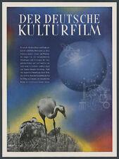 Farbreklame Packschies Der Deutsche Kulturfilm Berlin Volksfürsorge Hamburg 1944