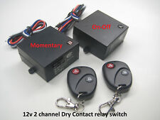 12v dry contact remote control relay switch with 1ch on-off 1ch momentary RP800