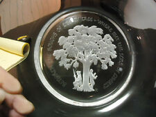 Lovely Orrefors Crystal Gilroy Roberts The Liberty Tree Franklin Mint Plate 1976