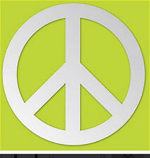 "PEACE SIGN mirrored wall sticker 1 lightweight acrylic mirror decal dorm 12""x12"""