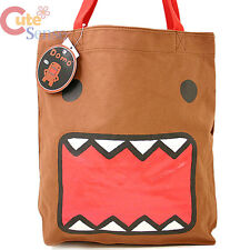 Domo Kun Tote Bag Big Face Canvas  Brown Shoulder Bag Licensed