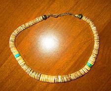 Antique Arizona American Indian turquoise & stone necklace navaj choker 1950s 2