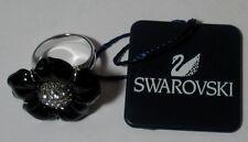 "SWAROVSKI SILVER CRYSTAL JEWELERY ""MELISSA RING - SIZE 55 JET""  M.I.B 1062651"