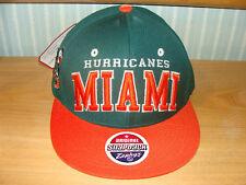 Zephyr Miami Hurricanes Snapback Cap Hat NCAA OSFM NWT