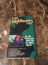 freddy's nightmares VHS OOP RARE A Nightmare On Elm Street Anoes