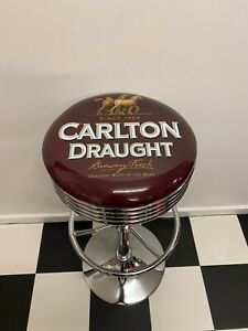 CARLTON DRAUGHT BAR STOOL ERGONOMIC ADJUSTABLE COMFORTABLE GREAT FOR MANCAVE