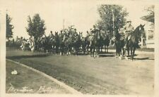 c1915 Military Mountain Battery Cavalry Horses Soldiers RPPC Photo Postcard
