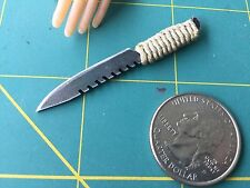 """Paracord Desert Tactical A"" 1:6 Scale Knife Custom Steel Miniature By Auret"