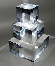 Set of 3 Acrylic Display Blocks 50mm, Retail, Jewellery, Watch, Craft Display,