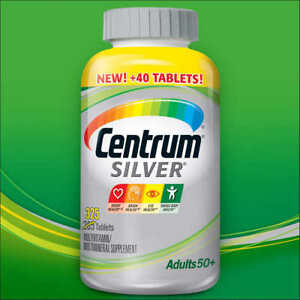 Centrum Silver Multivitamin For Adults Over 50, 325 tablets Multimineral, 2023