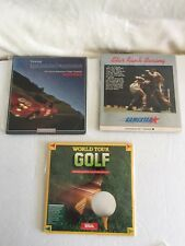 World Tour Golf*Star Rank Boxing*Road Race*Commodore 64/128***Tested & Works*