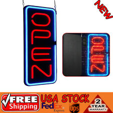 "Bright 23.6""X11.8"" Vertical Neon Open Sign 30W Led Light Window Bar Game Rooms"