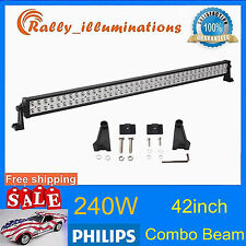 "PHILIPS 42""INCH 240W LED LIGHT BAR SPOT FLOOD OFFROAD LAMP 4X4WD 24"" DRIVING CAR"