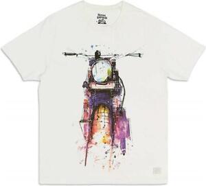 T-Shirt Ärmellos Kurz Weiß/Multicolor Original ROYAL ENFIELD Klassisch
