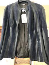 Brand New Labelled Salvatore Ferragamo Leather & Suede Jacket Size 44/12 Super.
