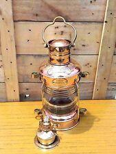 Brass & Copper Anchor Oil Lamp Nautical Maritime Ship lamp