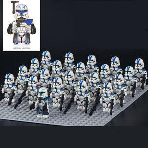 21pcs Fit Lego Star Wars custom 501st legion Clone Trooper rex minifigures