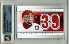 2008-09 ITG Ultimate Memorabilia Numerology #18 Dominik Hasek (16/24)