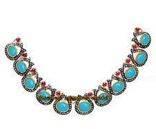 Studded Silver Bridal Necklace Jewelry Vintage 7.81cts Rose Cut Diamond Gemstone