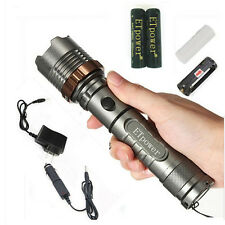 1800LM XM-L T6 LED Zoomable tactics stun Flashlight Bundel with battery charger
