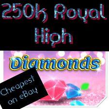 Roblox Royal Royale High 250k Diamonds Virtual Level 75