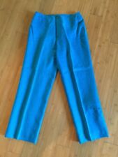 Nygard Collection Beautiful Turquoise Linen Lined Cropped Pants Sz 6 EUC!