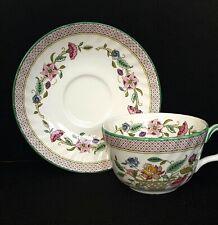 Minton Haddon Hall Trellis Green Bone China Cup & Saucer - 1st Quality Brand New